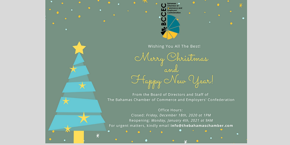 BCCEC Holiday Office Hours