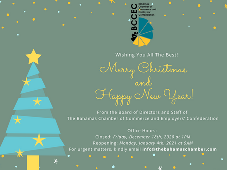 BCCEC Holiday Office Hours | Merry Christmas and Happy New Year!