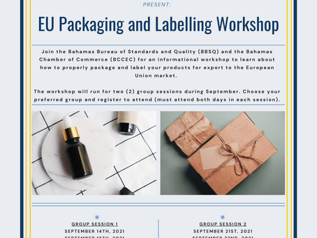 Event - BBSQ & BCCEC Presents: EU Packaging and Labelling Workshop October 2021