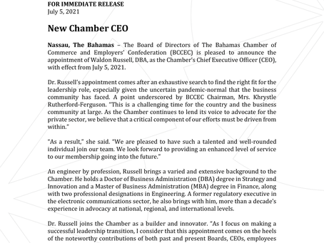 Press Release: BCCEC Announces New Chamber CEO