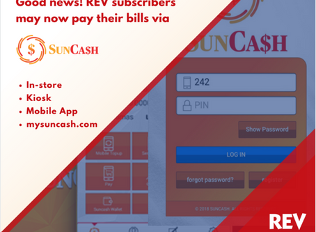 Member's Post: REV Partners with SunCash for Bill Payment Processing