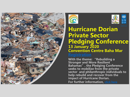 SAVE THE DATE: Hurricane Dorian Private Sector Pledging Conference - January 13th 2020
