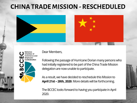 RESCHEDULED - CHINA TRADE MISSION