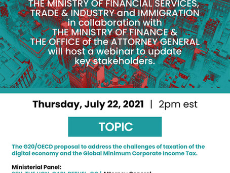Symposium -  G20/OECD Taxation Proposal | July 22nd 2021 at 2pm