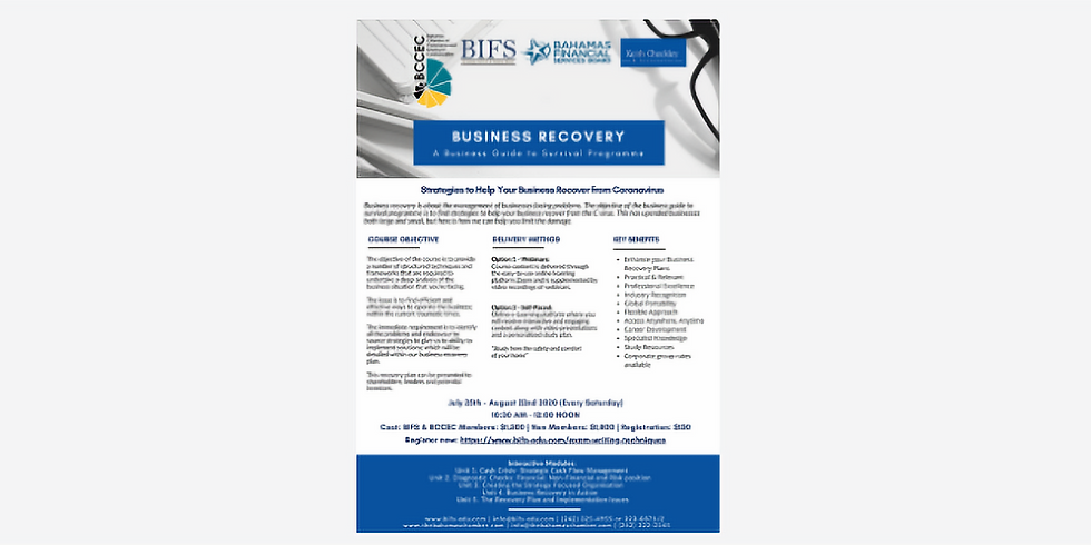 BCCEC & BIFS: Business Recovery - A Business Guide to Survival Programme