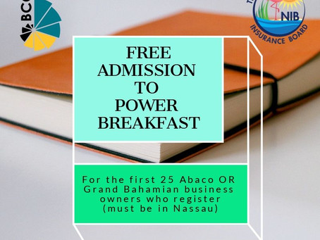 Power Breakfast - Free Admission for Abaco and GB business owners