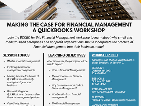 Event: Making The Case for Financial Management - A QuickBooks Workshop | October 2021