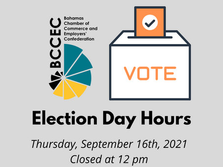Notice: BCCEC Election Day Hours 2021