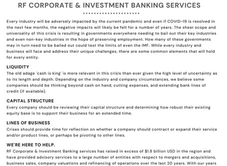 Member's Post: Royal Fidelity Corporate & Investment Banking Services