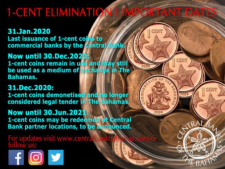 Central Bank of The Bahamas: Decommissioning One Cent Coin This Month