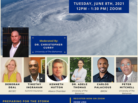 Event: Hurricane Preparedness Webinar | Tuesday, June 8th, 2021 at 12 Noon - 1:30 PM | Zoom