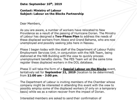 Ministry of Labour - Labour on the Blocks Partnership
