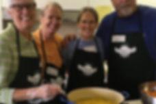 Volunteers making soup!