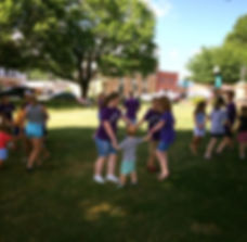 People dancing on the lawn