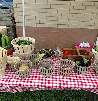 garden produce displayed on table