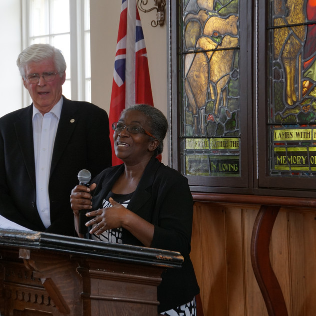 Sonia Walters brought greetings and congratulations on behalf of  the Divine Apostolic Ark of Jesus Christ. This congregation has worshipped here for more than ten years.
