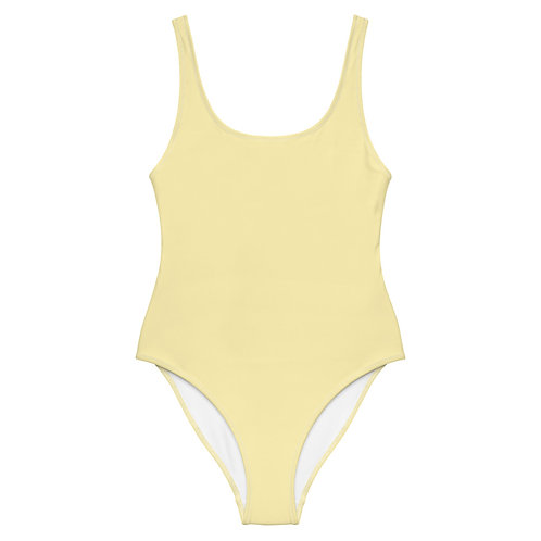 Light Yellow One-Piece Swimsuit