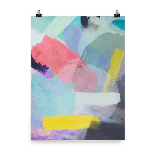 Multi Colored Patched Painting Poster