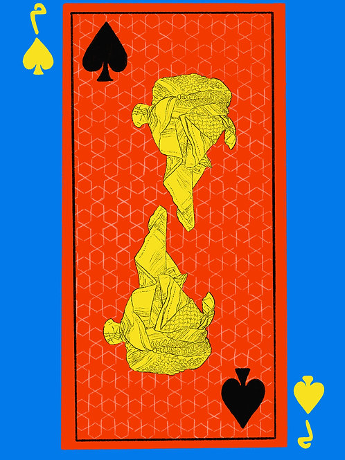 Yellow Esama of Spades