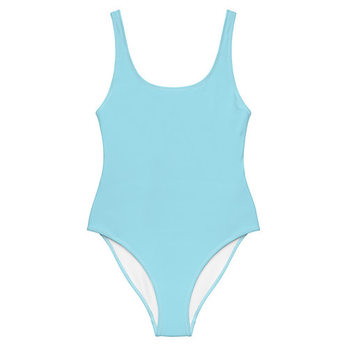 Light Blue One-Piece Swimsuit