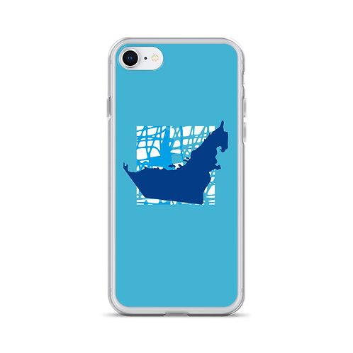 UAE Map iPhone Case