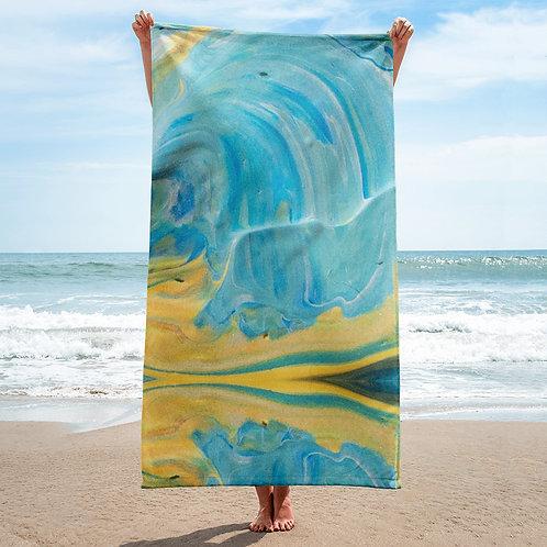Blue Paint Towel