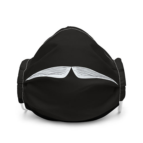 Sketched Mustache Face Mask