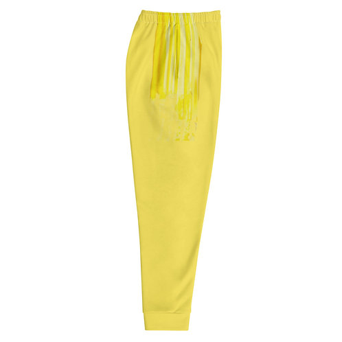 Yellow Paint Stroke Joggers