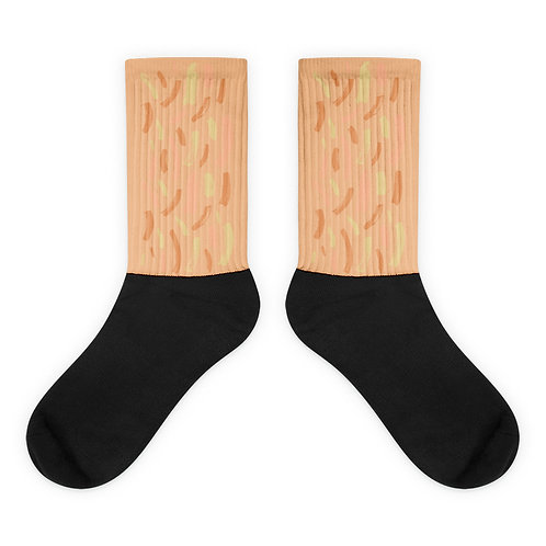 Nude Scattered Paint Socks