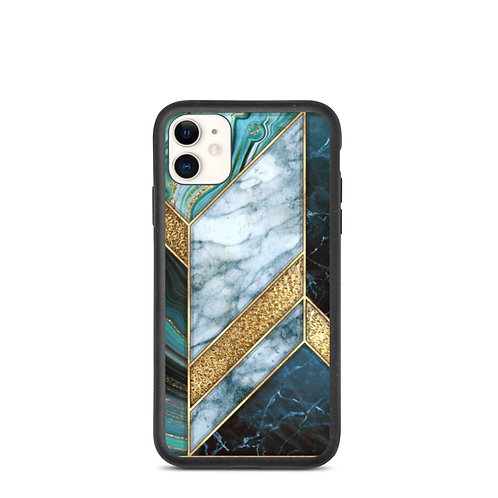 Green Marble Biodegradable Phone Case