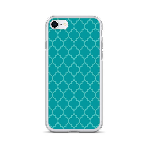 Turquoise Geometric Pattern iPhone Case