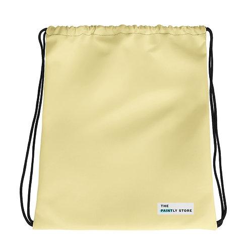 Light Yellow Drawstring bag