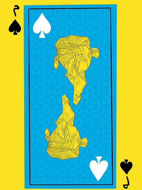 Blue Esama of Spades