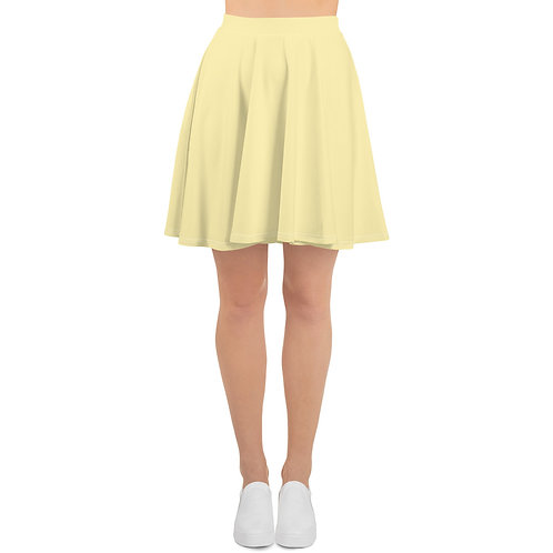 Light Yellow Skater Skirt