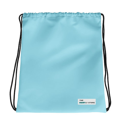 Light Blue Drawstring bag