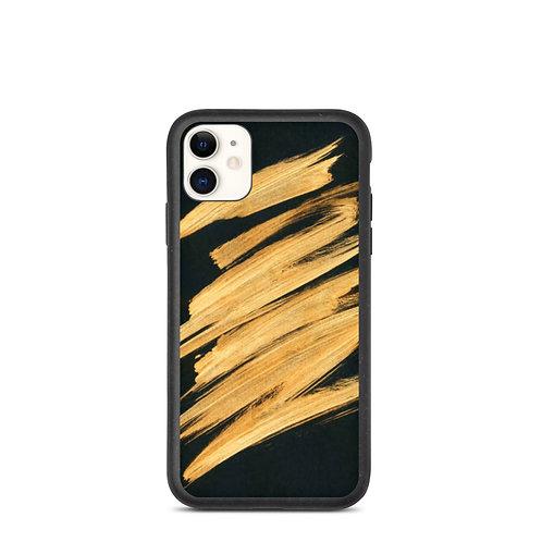 Gold Paint Biodegradable Phone Case