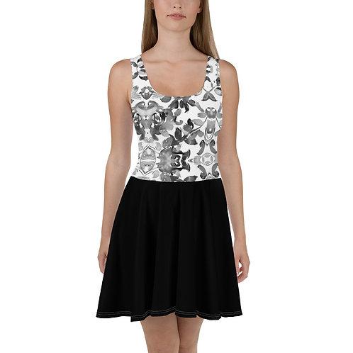 Black Roses Skater Dress