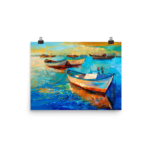 Boat Painting Poster