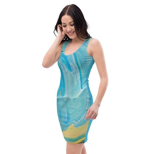 Blue Paint  Dress