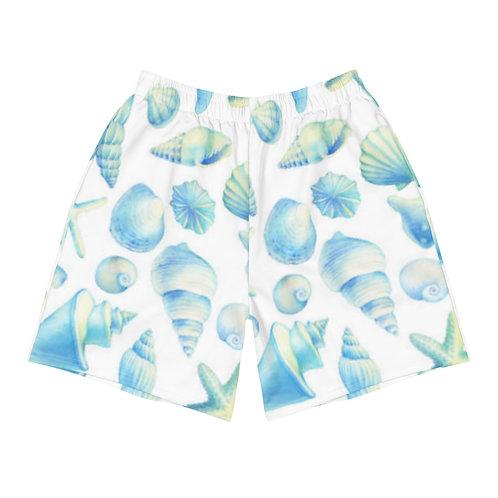 Watercolor Shells Long Shorts