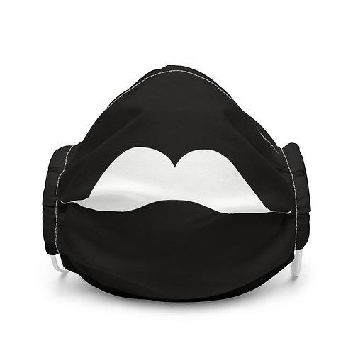 White Mustache Face Mask