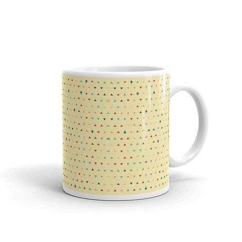 Yellow Triangle Pattern Mug