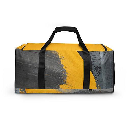 Grey Yellow Duffle bag