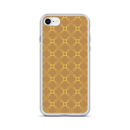 Golden Geometric Pattern iPhone Case