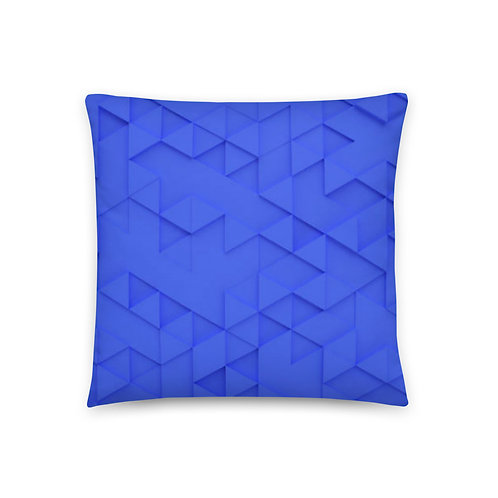 Blue Triangle Basic Pillow