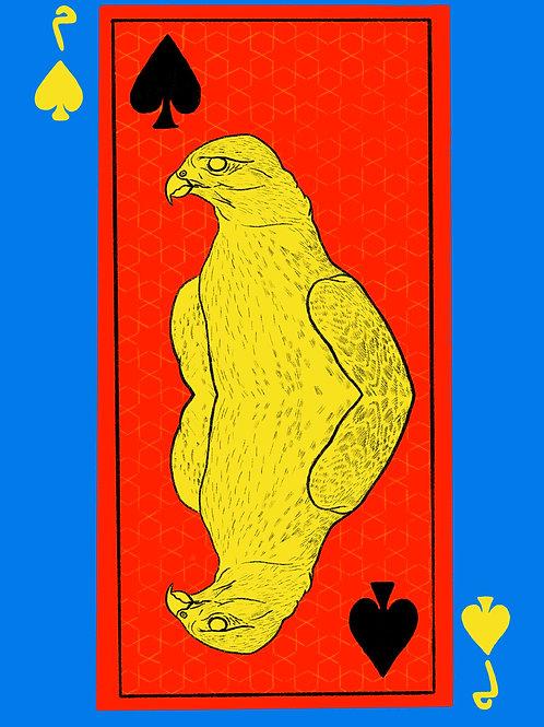 Yellow Falcon of Spades