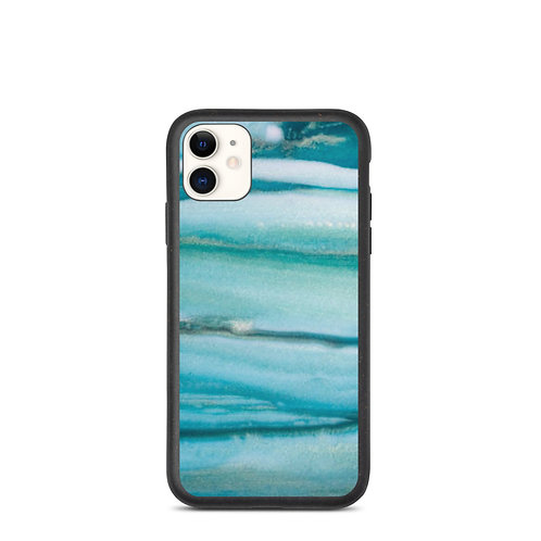 Blue Paint Biodegradable Phone Case