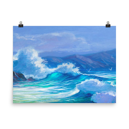 Sea Painting Poster