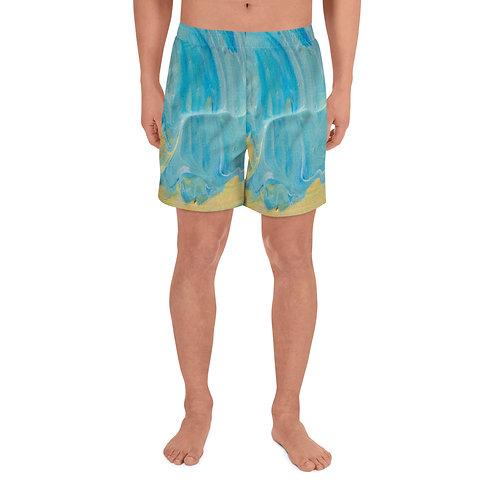 Blue Paint Shorts