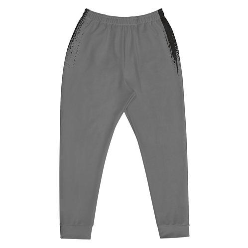 Black on Grey Paint Stroke Joggers